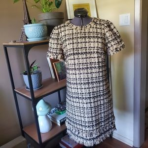 Kate Spade Tweed Short Sleeve Shift Dress